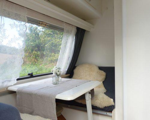 Wohnwagen kleine Sitzecke